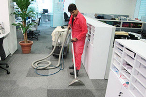 professional carpet cleaning crew