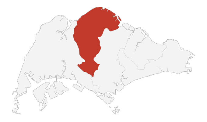 singapore north map