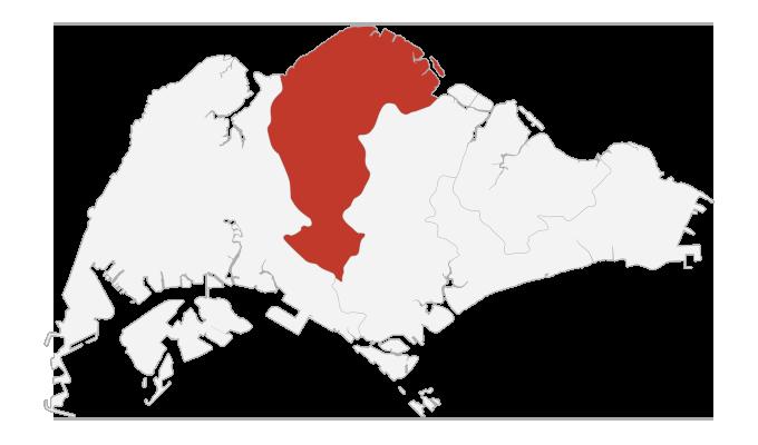 singapore north map