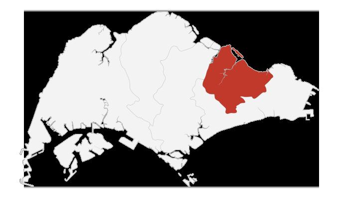 singapore northeast map