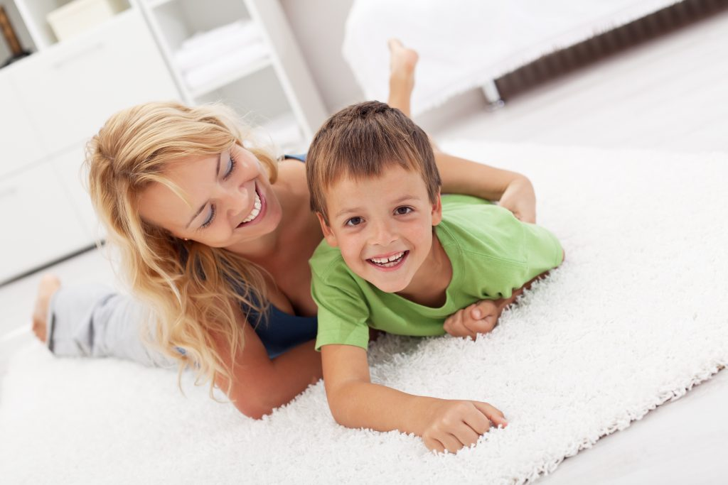 Clean wool carpets create comfortable flooring