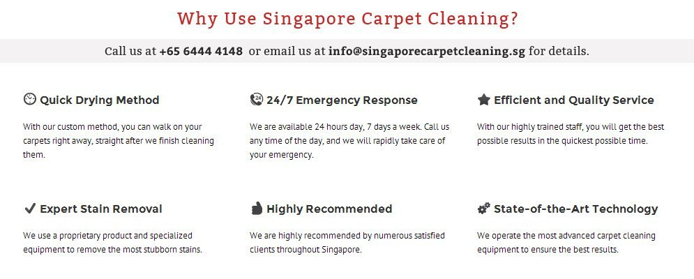 Why Use Singapore Carpet Cleaning Services